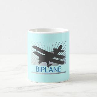 Biplane Airplane Basic White Mug
