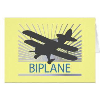 Biplane Airplane Greeting Card