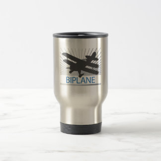 Biplane Airplane Stainless Steel Travel Mug