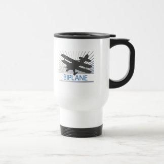 Biplane Airplane Stainless Steel Travel Mug
