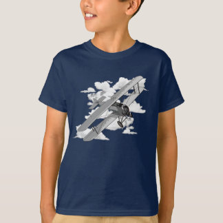 Biplane and clouds T-Shirt
