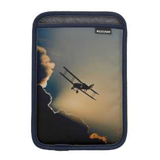 Biplane and sunset iPad mini sleeve