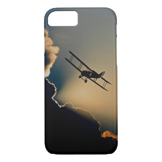 Biplane and sunset iPhone 8/7 case