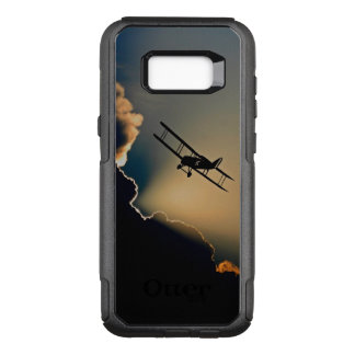 Biplane and sunset OtterBox commuter samsung galaxy s8+ case
