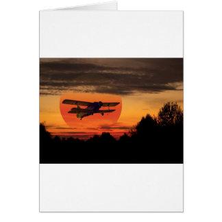 biplane card