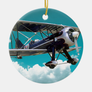 Biplane Christmas Ornament
