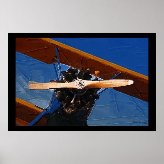 Biplane Prop Poster