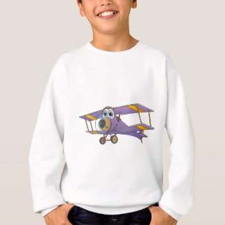 Biplane Purple Cartoon Sweatshirt