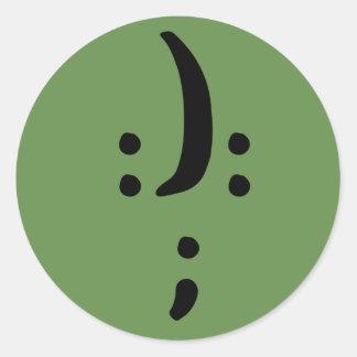 Bipolar Awareness Classic Round Sticker, Glossy Round Sticker