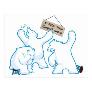 Bipolar Bear Postcard
