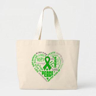 Bipolar Disorder Awareness Heart Words Canvas Bag