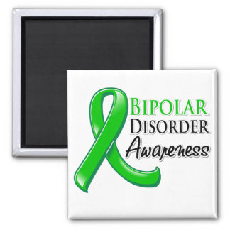 Bipolar Disorder Awareness Ribbon Square Magnet
