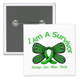 Bipolar Disorder Butterfly I Am A Survivor Pinback Buttons