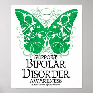 Bipolar Disorder Butterfly Poster