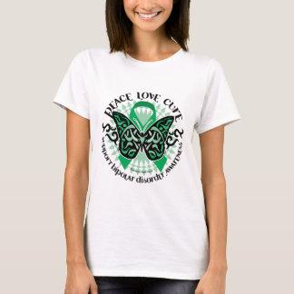 Bipolar Disorder Butterfly Tribal 2 T-Shirt