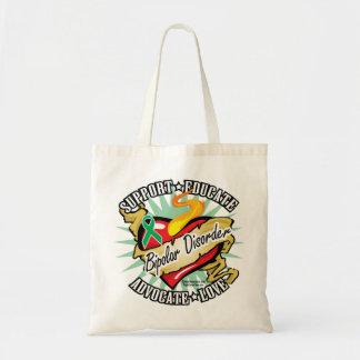 Bipolar Disorder Classic Heart Budget Tote Bag