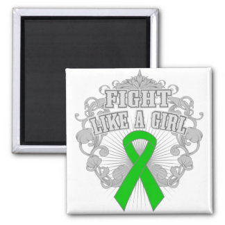 Bipolar Disorder Fight Like A Girl Fleurish Refrigerator Magnets