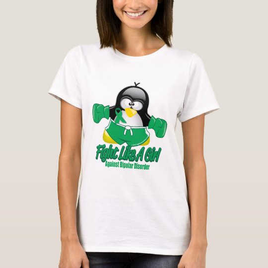 Bipolar Disorder Fighting Penguin T-Shirt