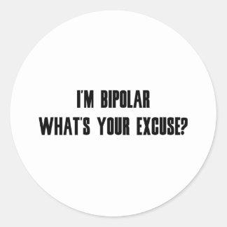 Bipolar Round Sticker