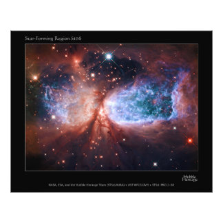 Bipolar Star Forming Region Sharpless 2-106 Nebula Photograph