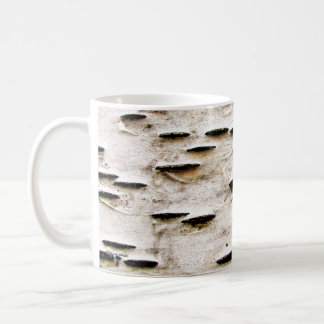 Birch bark basic white mug