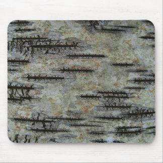 Birch bark mouse mat