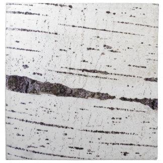 Birch bark pattern napkin