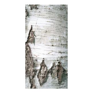 Birch bark photo card