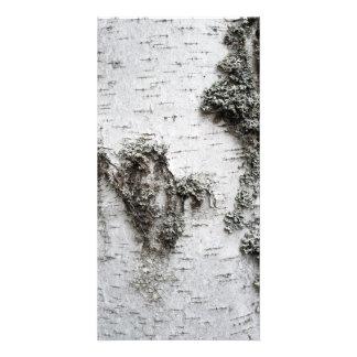 Birch bark customized photo card