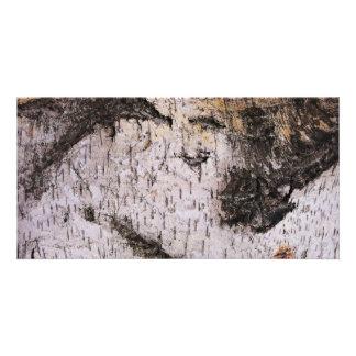 Birch Bark - wood texture nature photo Customised Photo Card