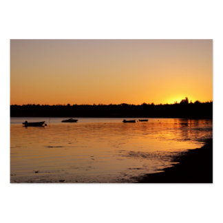 Birch Bay Sunset Large Business Cards (Pack Of 100)
