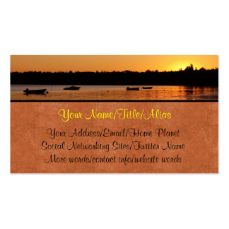 Birch Bay Sunset Double-Sided Standard Business Cards (Pack Of 100)