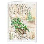 Birch Bunnies Greeting Card