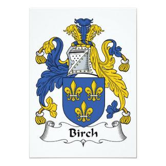Birch Family Crest Card
