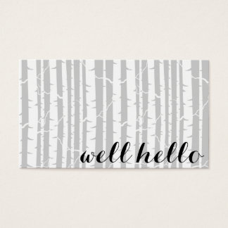 Birch Forest Business Cards with Custom Colors