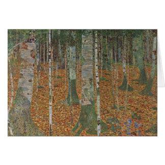 Birch Forest by Gustav Klimt, Vintage Art Nouveau Greeting Card