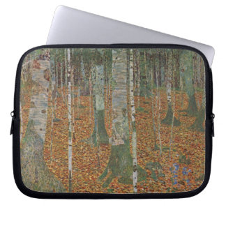 Birch Forest by Gustav Klimt, Vintage Art Nouveau Laptop Sleeve