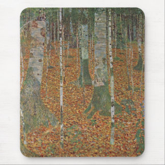 Birch Forest by Gustav Klimt, Vintage Art Nouveau Mouse Mat