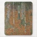 Birch Forest by Gustav Klimt, Vintage Art Nouveau Mouse Pad