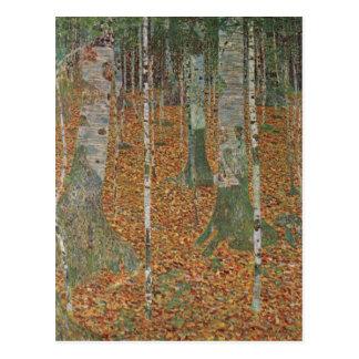 Birch Forest by Gustav Klimt, Vintage Art Nouveau Postcard