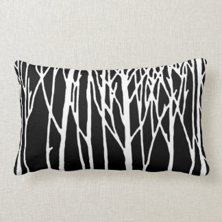 Birch Forest by Leslie Peppers Lumbar Pillow
