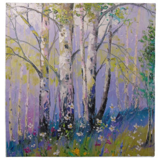 Birch grove napkin