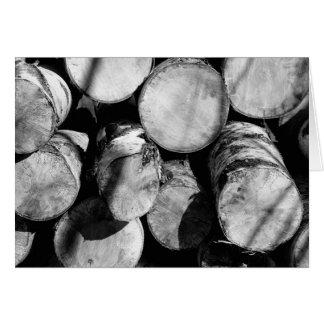 Birch logs card