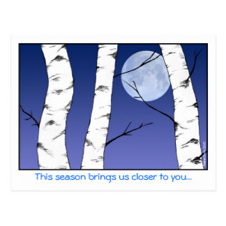 Birch Moon Christmas Postcard