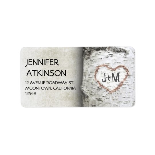 birch tree address labels