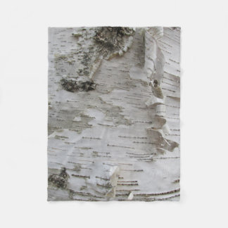Birch Tree Bark Peeled Old Photo Art Fleece Blanket