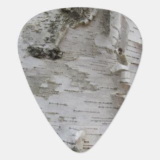 Birch Tree Bark Peeled Old Photo Art Guitar Pick