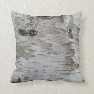 Birch Tree Bark Peeled Old Photo Art Throw Pillow