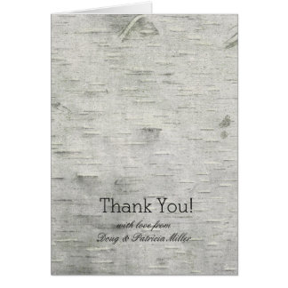 Birch Tree Faux Wood Thank You Card