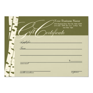 Birch Tree Gift Certificates Card